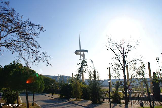 La torre delle Comunicazioni di Calatrava all'Anello Olimpico
