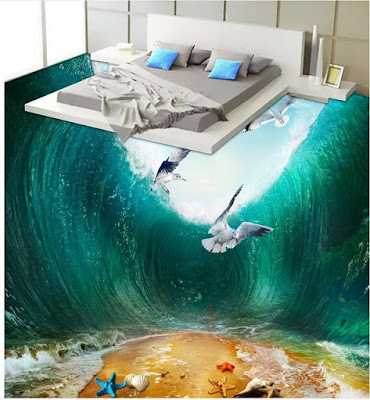 3D epoxy floor painting 3D flooring murals 2018 for bedrooms