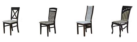 Krzesło stylowe Ludwik, tkanina w pasy