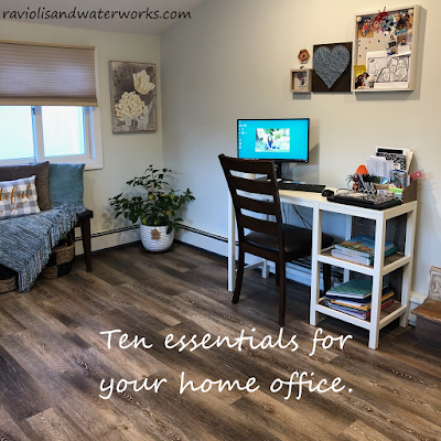 ten necessities for a home office; home office necessities; home office essentials