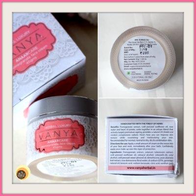 Vanya Herbal Anaarcare Pomegranate Face Cream Packaging