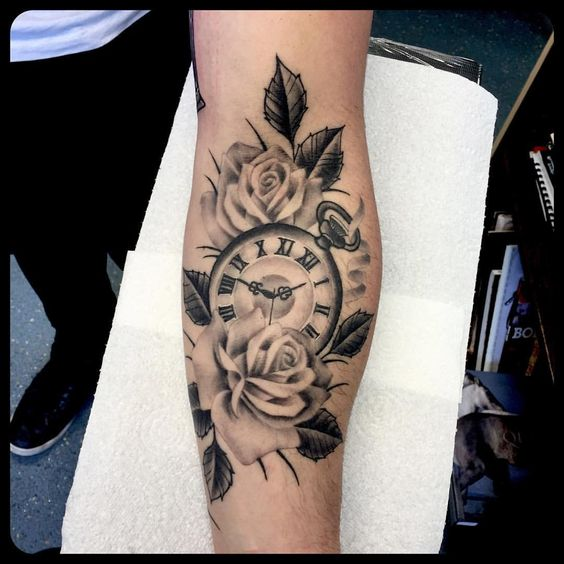Mytattoolandcom Clock And Rose Tattoos
