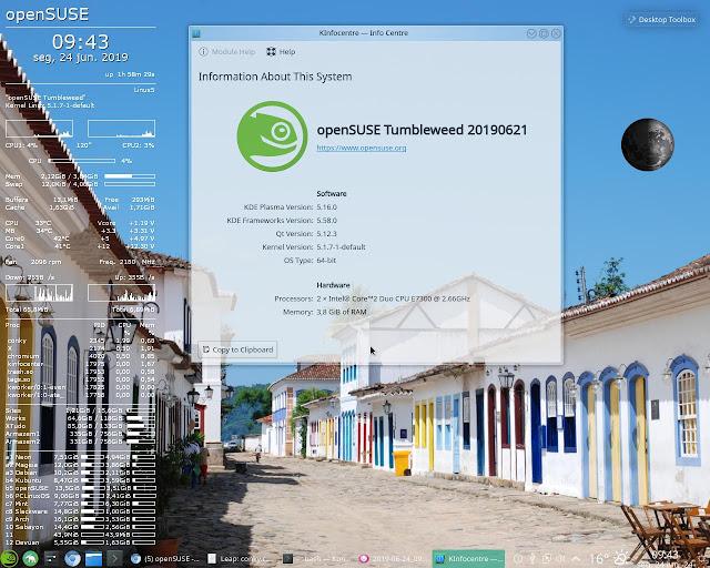 KInfocenter no openSUSE convertido em Tumbleweed a partir do Leap 15.0