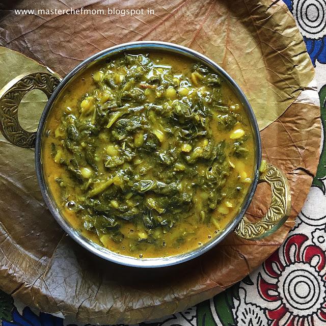 Tam Brahm Style Keerai Sambar