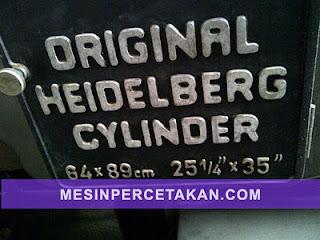 ORIGINAL Heidelberg SBD Cylinder Die Cutting Machine