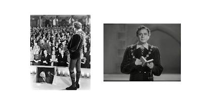 Joseph Tura interpretando Hamlet en la película Ser o no ser