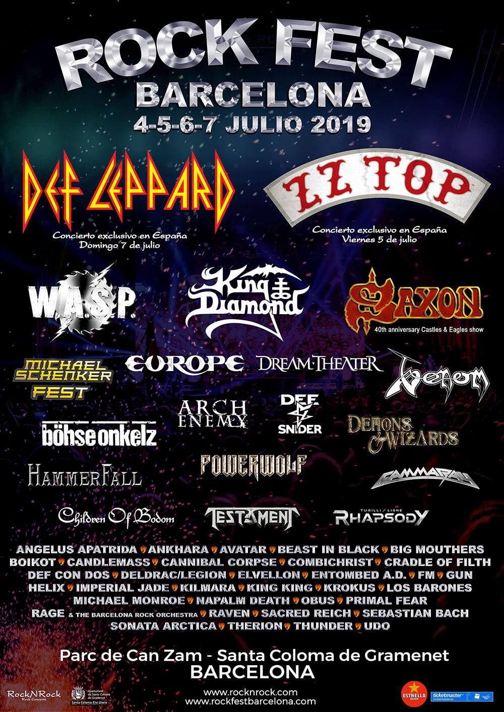 RockFest Barcelona Line Up