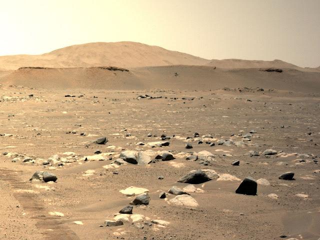terceiro voo do heliscóptero Ingenuity em Marte - NASA