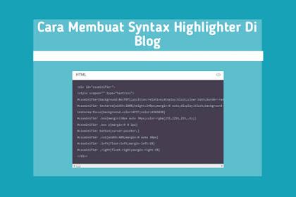 Cara Membuat Syntax Highlighter Di Bloggger : 100% WORK