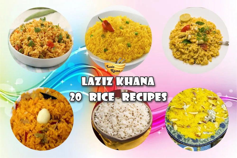 20 Rice Recipes in Hindi