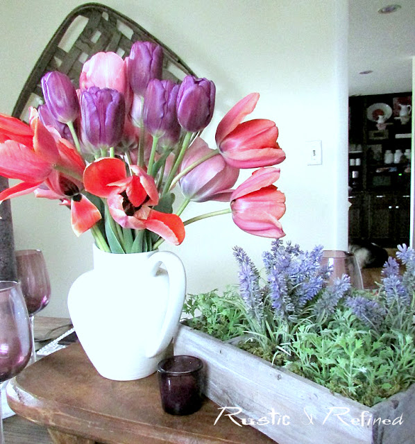 Spring tablescape with fresh flowers