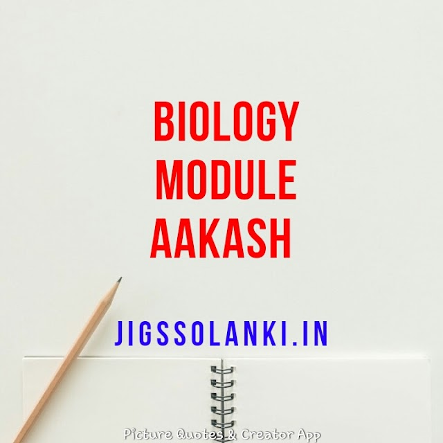 BIOLOGY FULL MODULE BY AAKASH INSTITUTE