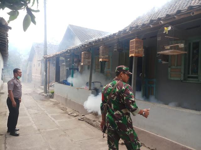 Babinsa Koramil 22 Wonosari Bantu Fogging