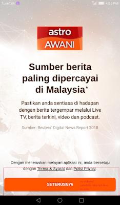 click next on free live tv new app
