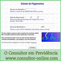extrato de pagamento, valor de benefício, site do INSS