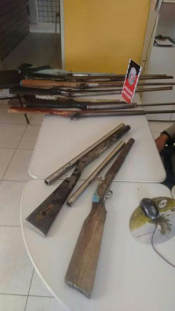 Policiais de 9º BPM apreendem 11 armas de fogo em Barra de Santa Rosa