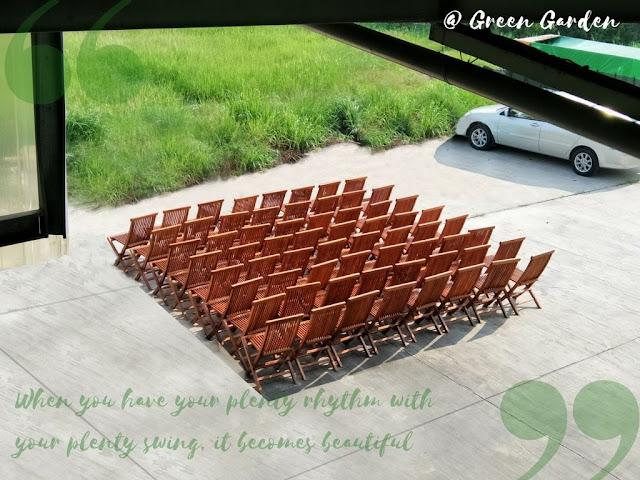 折合柚木餐椅