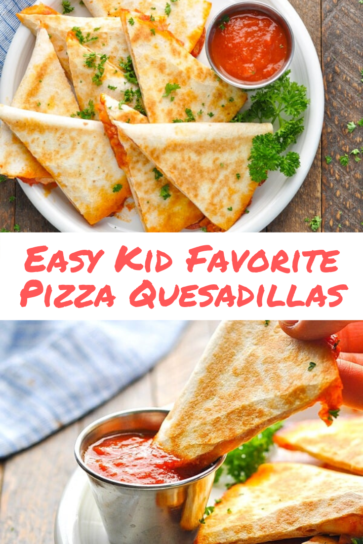 Easy Kid Favorite Pizza Quesadillas