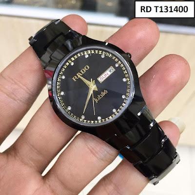 Đồng hồ đeo tay nam mặt tròn dây đá ceramic RD T131400