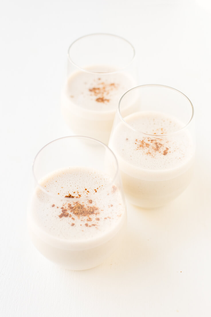 Vegan Eggnog Step by Step | Eggnog is a typical North American drink and is very sweet and creamy. It is characteristic of Christmas, and it is delicious.