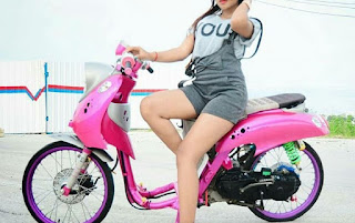 modifikasi honda scoopy pink