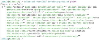 Security Profile Default Wireless Mikrotik
