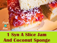 1 Syn A Slice Jam And Coconut Sponge