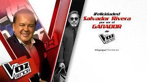 La Voz Senior tiene ganador: Salvador Rivera del equipo Montaner