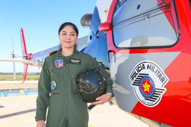 Capitão Mayara no comando do Águia PM