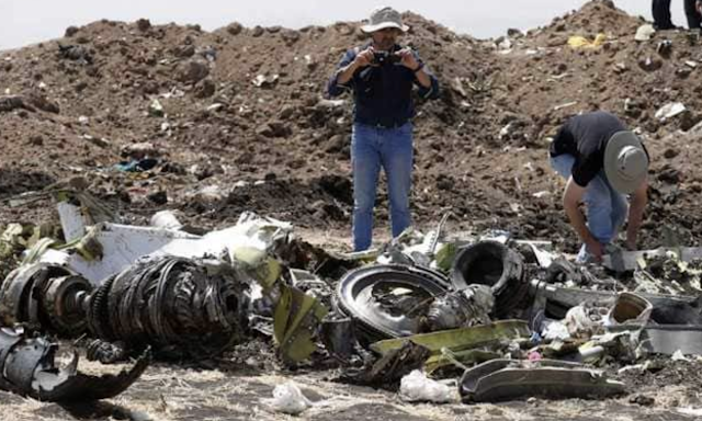 Piece Found At Ethiopian Airlines Crash Site Shows Jet Was Set To Dive