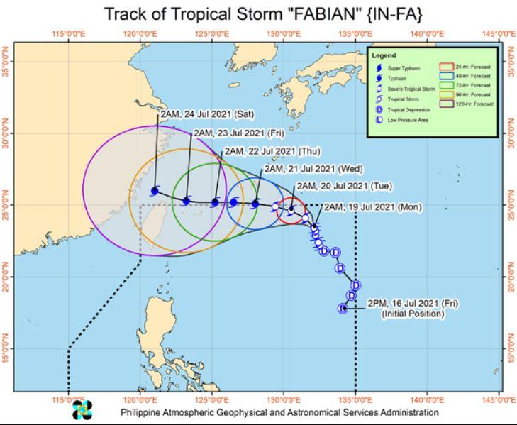 'Bagyong Fabian' PAGASA track