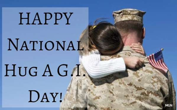 National Hug a G.I. Day Wishes Lovely Pics