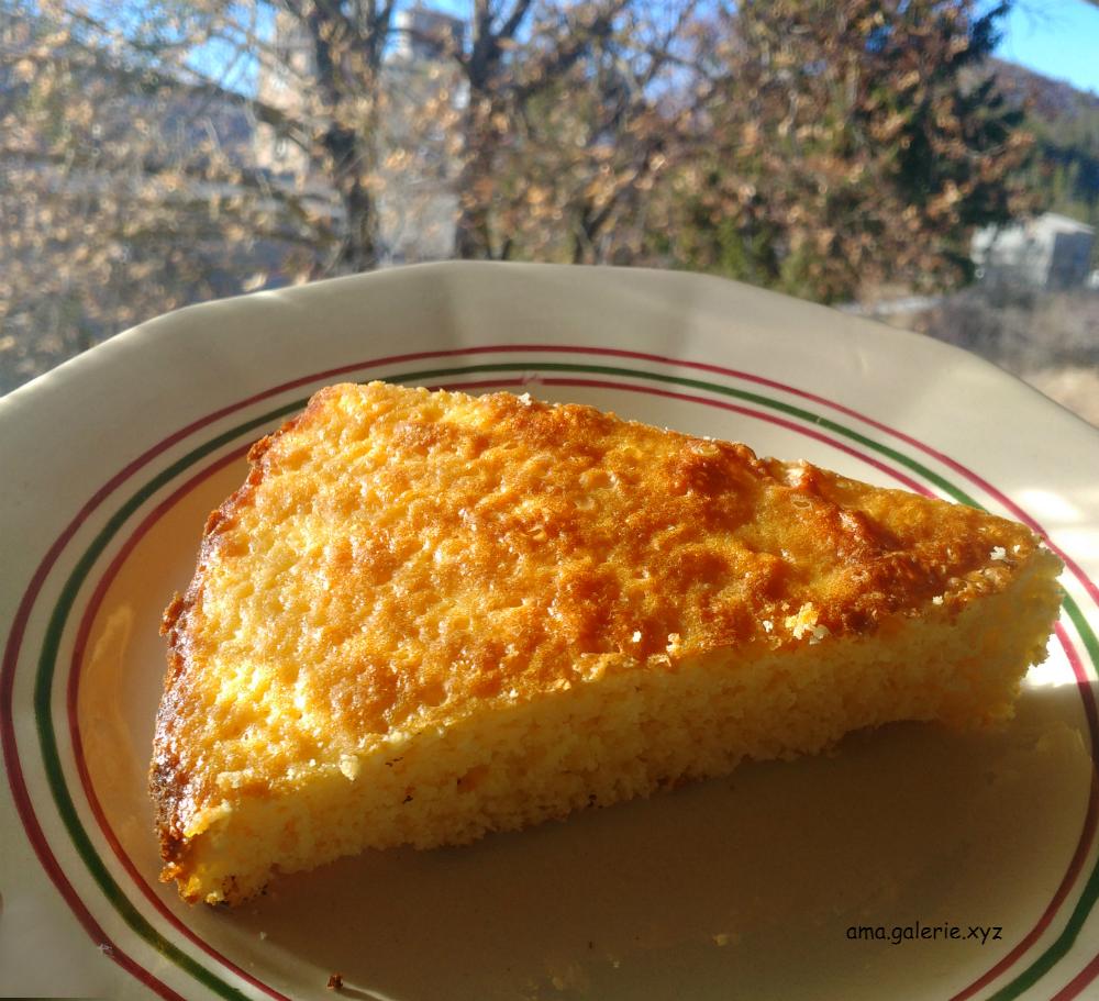 gâteau moelleux et crème au citron par Ama sculpteur