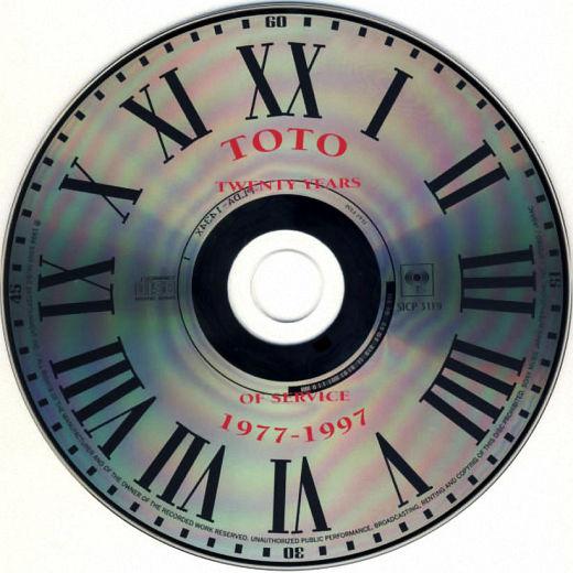 TOTO - XX [Japan Cardboard Sleeve miniLP remastered] - disc