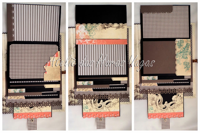 mini album scrapbook cascata