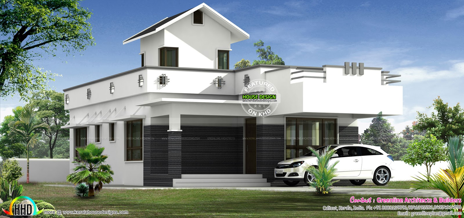 1000 sq ft 15 lakhs budget home kerala home design and for Kerala home design 1000 sq feet