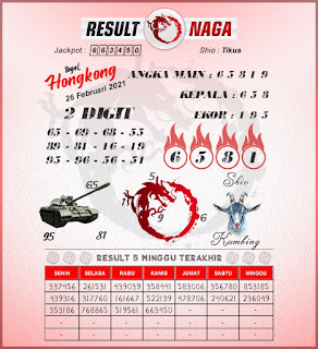 syair hk result naga