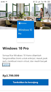 Harga Windows 10 lisensi Original FPP