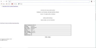 2020 NLS Bar Part II Course Application Form Guidelines | How to Apply