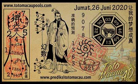Prediksi Toto Macau Pools Jumat 26 Juni 2020
