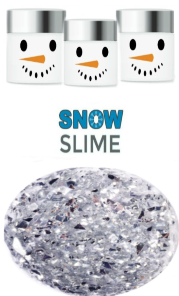 Are your kids dying to play in the snow, but there isn't any?  Make icy-cold snow slime that feels just like the real thing! #snow #snowslime #snowslimerecipe #snowslimeforkids #shiverysnowslime #howtomakesnow #slimerecipe #slime #slimerecipewithboraxandglue #winterslime #wintercraftsforkids #growingajeweledrose