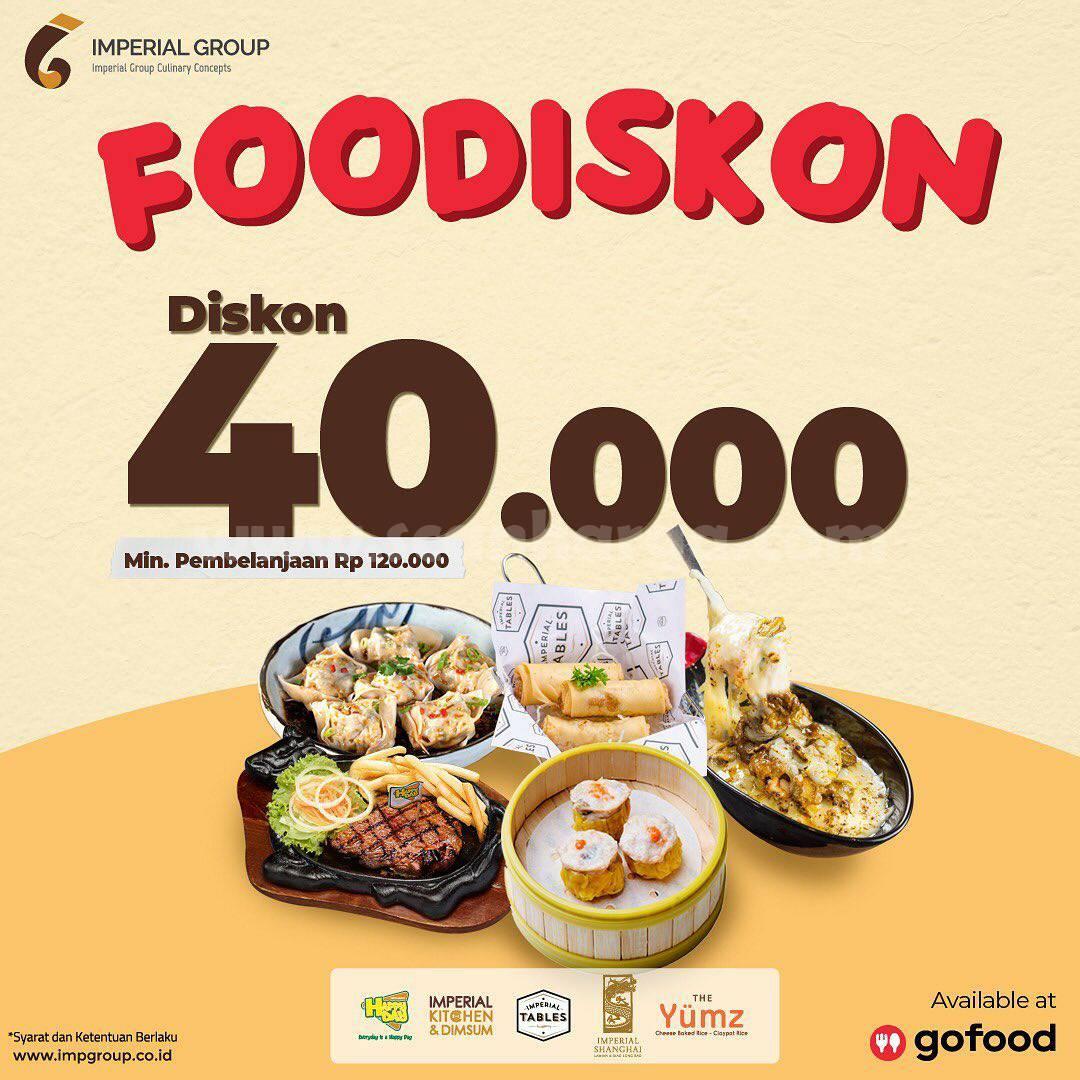 Promo Happy Day Resto Diskon Rp. 40.000 pesan antar via Gofood