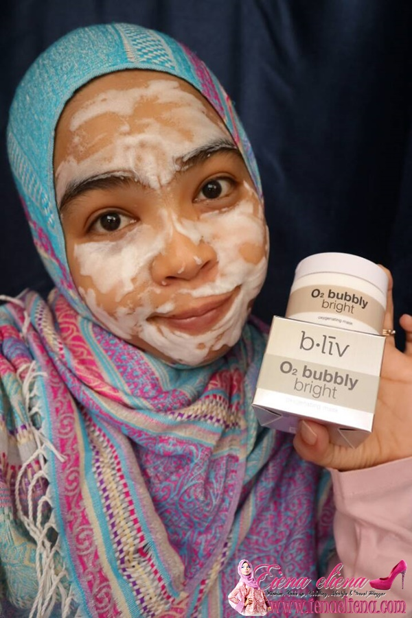 Bliv O2 Bubbly Bright Facemask untuk Kulit Flawless