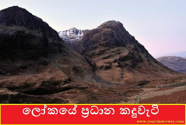ලෝකයේ ප්රධාන කදුවැටි (Major Mountain Ranges In The World) - Your Choice Way
