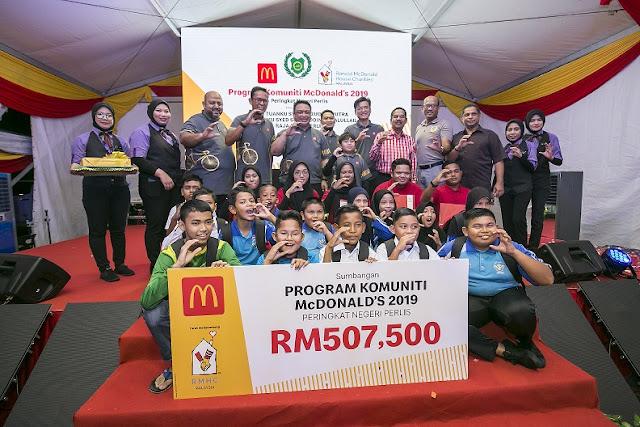 McDonald's dekati masyarakat di utara tanahair dengan sumbangan lebih RM500,000