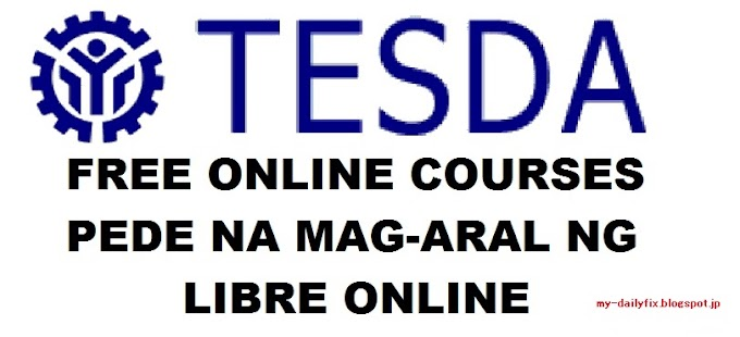 FREE TESDA Online Course for 2020
