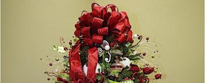 hacer un moño para la punta del árbol de navidad