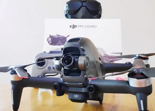 Here is the not-yet-announced DJI FPV COMBO plane