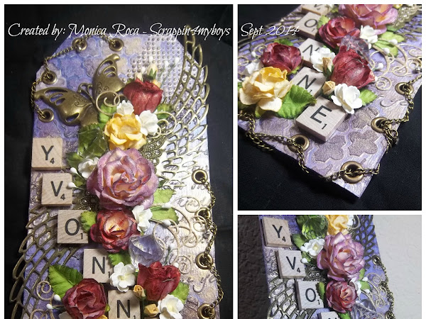 Mixed Media Tag for Yvonne (ScrapBliss)