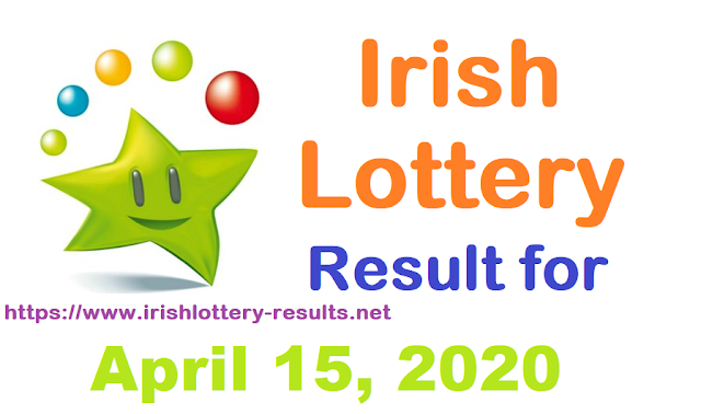 Irish Lottery Results for Wednesday, April 15, 2020